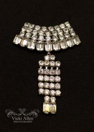 1960s Diamante Dangle Brooch with Art Deco Styling - Stunning! (SOLD)